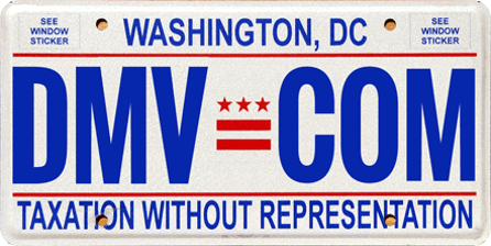 Washington DC license plate
