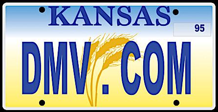 Kansas license plate